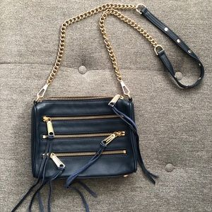 Mini 5 Zip crossbody bag in Midnight